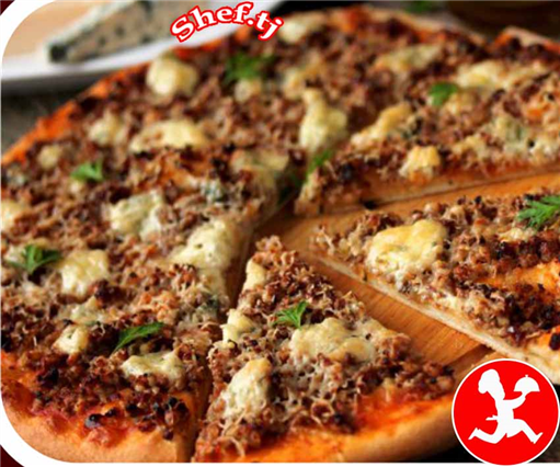 Пицца с фаршем маленькая