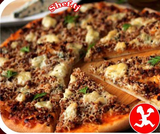 Пицца с фаршем большая