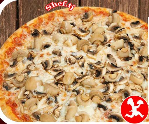 Пицца с грибами большая