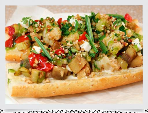 Брускетта с овощами / Bruschetta with vegetables