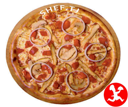 Пицца Аль-Крудо средняя