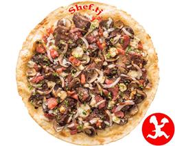 Пицца мясная маленька
