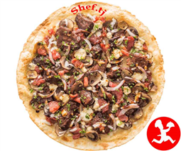 Пицца мясная cредняя