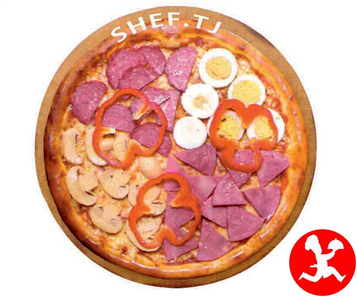 Пицца кватро стаджиони большая