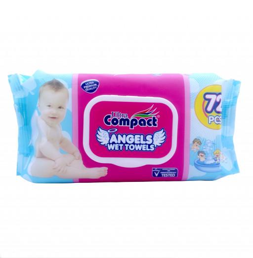 """Влажные салфетки angels """"Compact"""" 72шт"""
