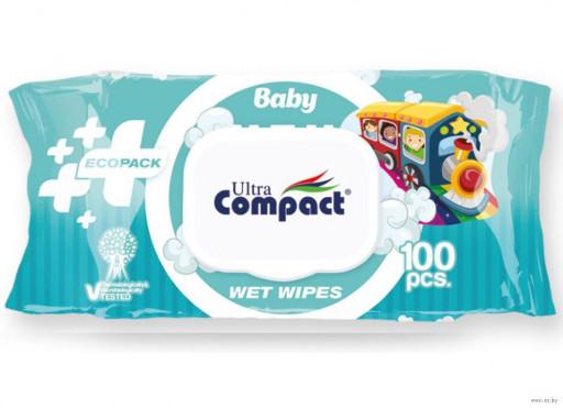 """Влажные салфетки ecopack """"Compact"""" 100шт"""