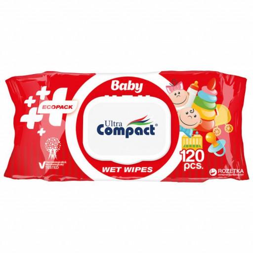 """Влажные салфетки ecopack """"Compact"""" 120шт"""