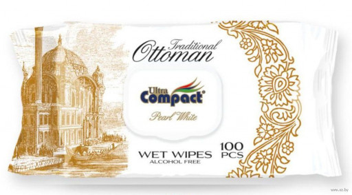 """Влажные салфетки ottoman """"Compact"""" 100шт"""