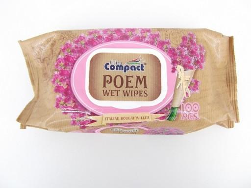 """Влажные салфетки poem bougainville """"Compact"""" 100шт"""