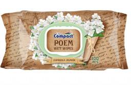 Влажные салфетки poem jasmine Compact 100шт