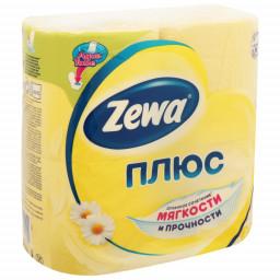 """Туалетная бумага плюс ромашка """"Zewa"""" 4шт"""