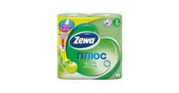 "Туалетная бумага плюс аромат яблока ""Zewa"" 4шт"