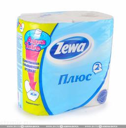 "Туалетная бумага плюс 2-слойная ""Zewa"" 4шт"