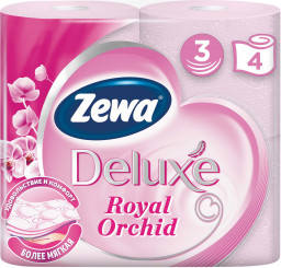 """Туалетная бумага deluxe орхидея """"Zewa"""" 3слоя 4рулона"""