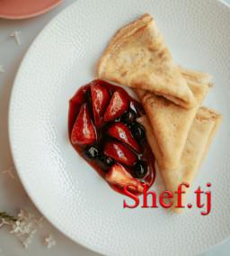 Блинчики с ягодами
